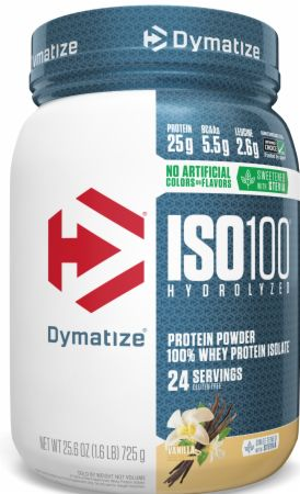 Image of ISO100® Hydrolyzed 100% Whey Protein Isolate Vanilla 1.6 Lbs. - Naturally Flavored - Protein Powder Dymatize
