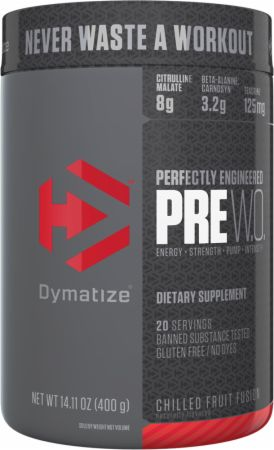 Image of Pre W.O. Pre Workout Chilled Fruit Fusion 20 Servings - Pre-Workout Dymatize