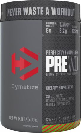 Dymatize PRE W.O. Sweet Cherry Lime 20 Servings - Pre-Workout...