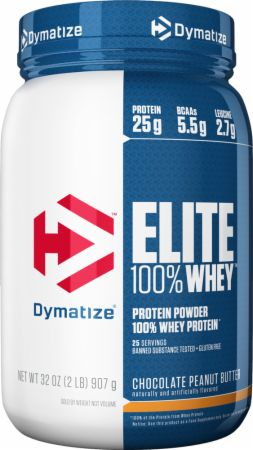 Dymatize Elite 100% Whey Protein Chocolate Peanut Butter 2 Lbs. - Protein Powder