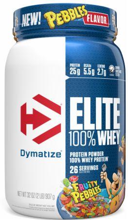 Image of Elite 100% Whey Protein Fruity Pebbles 2 Lbs. - Protein Powder Dymatize