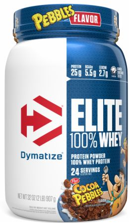 Image of Elite 100% Whey Protein Cocoa Pebbles 2 Lbs. - Protein Powder Dymatize