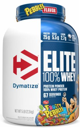 Image of Elite 100% Whey Protein Fruity Pebbles 5 Lbs. - Protein Powder Dymatize