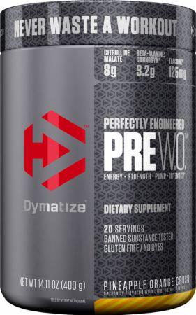 Image of Pre W.O. Pre Workout Pineapple Orange Crush 20 Servings - Pre-Workout Dymatize