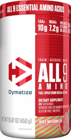 Image of All 9 Amino Full Spectrum BCAAs & EAAs Juicy Watermelon 450 Grams - Amino Acids & BCAAs Dymatize
