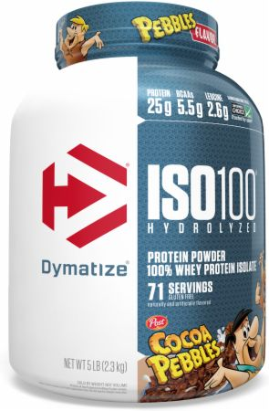 Image of ISO100® Hydrolyzed 100% Whey Protein Isolate Cocoa Pebbles 5 Lbs. - Protein Powder Dymatize