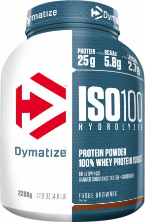 Image of Dymatize ISO100 2.2 Kilograms Fudge Brownie
