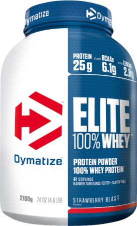 Image of Dymatize Elite 100% Whey Protein 2.1 Kilograms Strawberry Blast