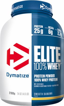 Image of Dymatize Elite 100% Whey Protein 2.1 Kilograms Smooth Banana