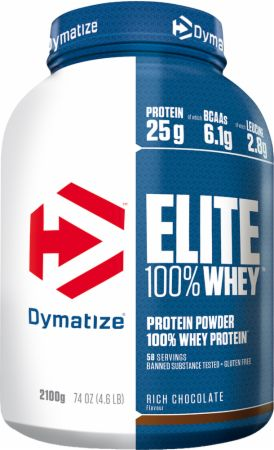 Image of Dymatize Elite 100% Whey Protein 2.1 Kilograms Rich Chocolate