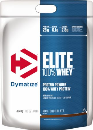 Image of Dymatize Elite 100% Whey Protein 4.54 Kilograms Rich Chocolate