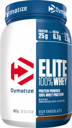 Image of Dymatize Elite 100% Whey Protein 907 Grams Rich Chocolate