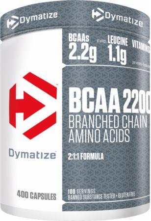 Image of BCAA 2200 400 Capsules - Amino Acids & BCAAs Dymatize
