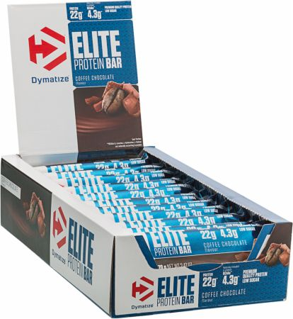 Image of Dymatize Elite Protein Bar 15 x 70g Bars Coffee Chocolate
