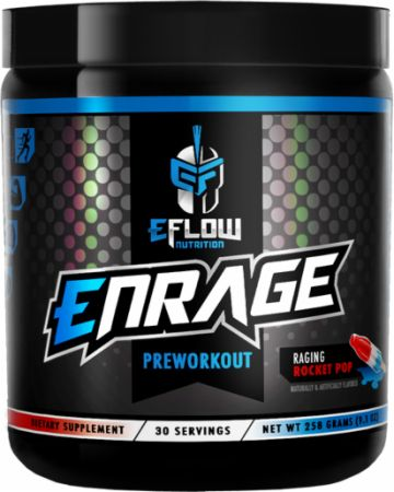 Enrage Raging Rocket Pop 30 Servings - Pre-Workout Supplements eFlow Nutrition