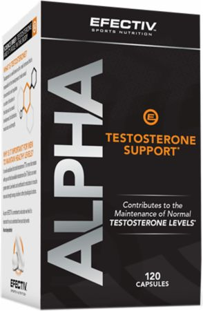 Image of Alpha Testosterone Support 120 Capsules - Testosterone Support EFECTIV Nutrition