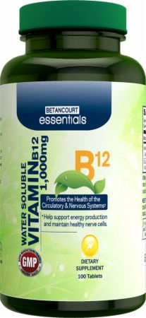 Image of Betancourt Nutrition Essentials Vitamin B12 100 Tablets