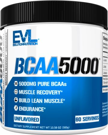 Image of EVLUTION NUTRITION BCAA 5000 60 Servings Unflavored