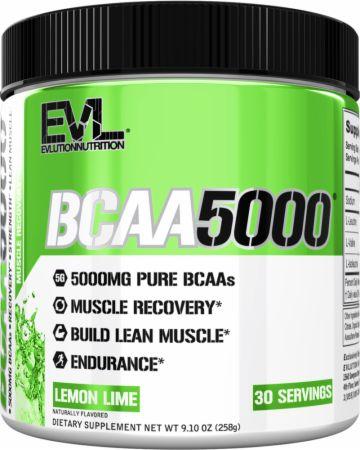 Image of BCAA 5000 Lemon Lime 30 Servings - Amino Acids & BCAAs EVLUTION NUTRITION