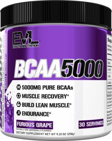 Image of BCAA 5000 Furious Grape 30 Servings - Amino Acids & BCAAs EVLUTION NUTRITION
