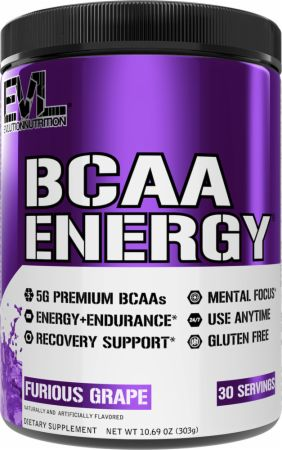 Image of EVLUTION NUTRITION BCAA Energy 30 Servings Furious Grape