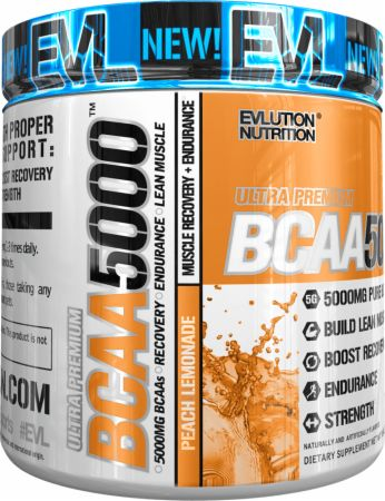 Image of EVLUTION NUTRITION BCAA 5000 30 Servings Peach Lemonade