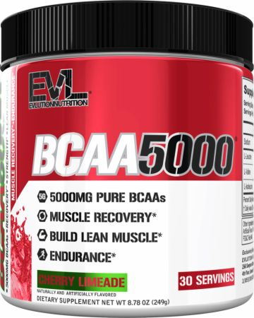 Image of BCAA 5000 Cherry Limeade 30 Servings - Amino Acids & BCAAs EVLUTION NUTRITION