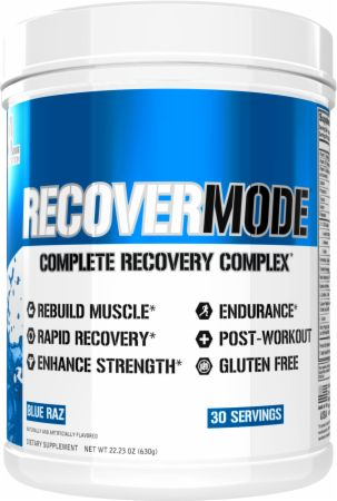 Image of RecoverMode Muscle Recovery Blue Raz 30 Servings - Post-Workout Recovery EVLUTION NUTRITION