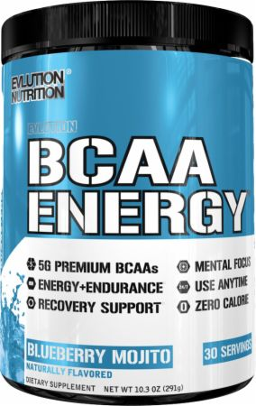 Image of EVLUTION NUTRITION BCAA Energy 30 Servings Blueberry Mojito