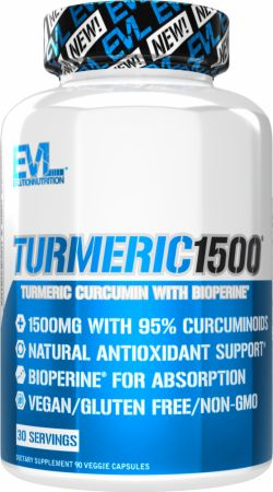 Image of Turmeric Curcumin 90 Veggie Caps - Joint Support EVLUTION NUTRITION