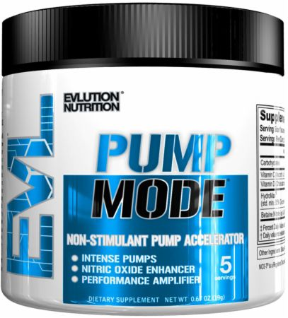 EVLUTION NUTRITION PumpMode Unflavored 5 Servings - Stimulant Free Pre-Workout