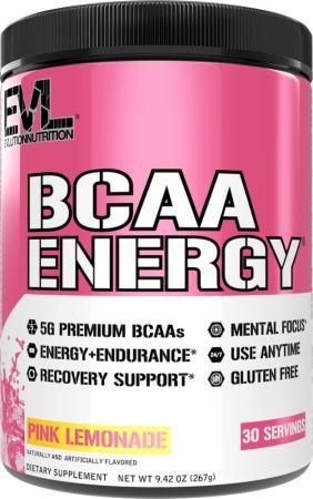 Image of BCAA Energy Amino Acids Pink Lemonade 30 Servings - Amino Acids & BCAAs EVLUTION NUTRITION