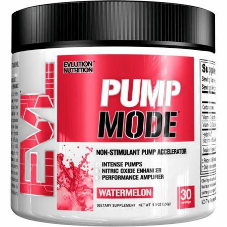 EVLUTION NUTRITION PumpMode Watermelon 30 Servings - Stimulant Free Pre-Workout