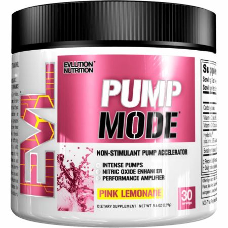 EVLUTION NUTRITION PumpMode Pink Lemonade 30 Servings - Stimulant Free Pre-Workout