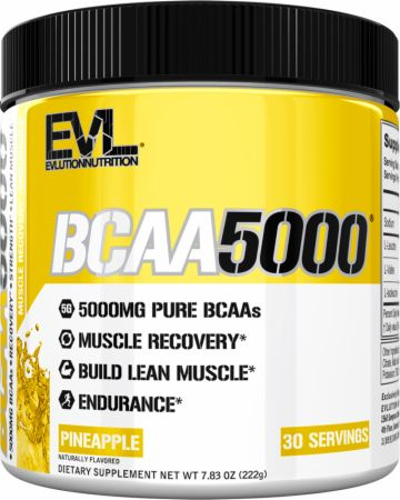 Image of EVLUTION NUTRITION BCAA 5000 30 Servings Pineapple