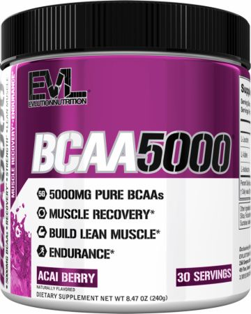 Image of EVLUTION NUTRITION BCAA 5000 30 Servings Acai Berry
