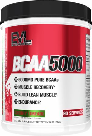 Image of BCAA 5000 Cherry Limeade 90 Servings - Amino Acids & BCAAs EVLUTION NUTRITION