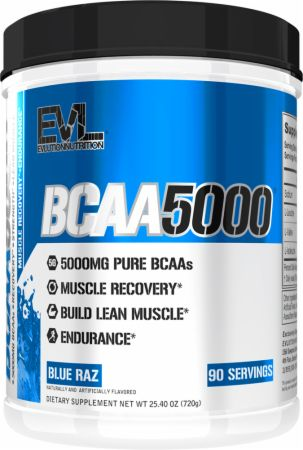 Image of BCAA 5000 Blue Raz 90 Servings - Amino Acids & BCAAs EVLUTION NUTRITION