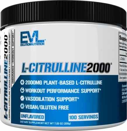 Image of L-Citrulline2000 Unflavored 100 Servings - Nitric Oxide Boosters EVLUTION NUTRITION