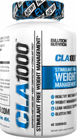 Evlution Nutrition CLA 1000, Conjugated Linoleic Acid Weight Loss Supplement for Stimulant Free Fat Burning, Metabolism and Lean Muscle Support