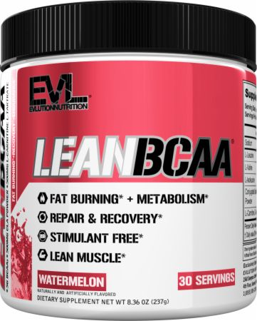 Evlution Nutrition LeanBCAA 5 Grams Pure BCAAs providing Essential Amino Acids with CLA, L-Carnitine to support Fat Loss, Lean Muscle, Recovery, for Stimulant-Free Weight Management