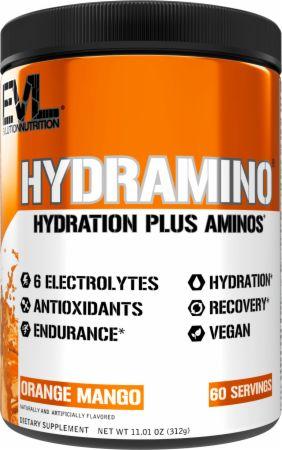 Image of HYDRAMINO Electrolytes + Amino Acids Orange Mango 30 Servings - During Workout EVLUTION NUTRITION