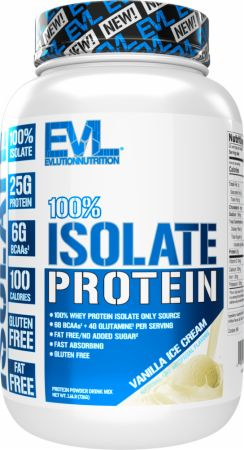 Image of 100% Whey Protein Isolate Vanilla Ice Cream 1.6 Lbs. - Protein Powder EVLUTION NUTRITION