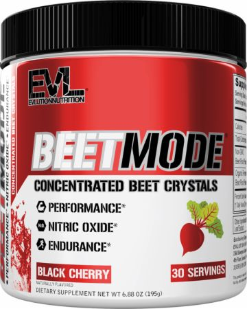Image of BeetMode Nitric Oxide Powder Stimulant-Free Pre Workout Black Cherry 30 Servings - Energy & Endurance EVLUTION NUTRITION