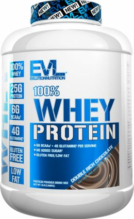 Image of 100% Whey Protein Double Rich Chocolate 5 Lbs. - Protein Powder EVLUTION NUTRITION