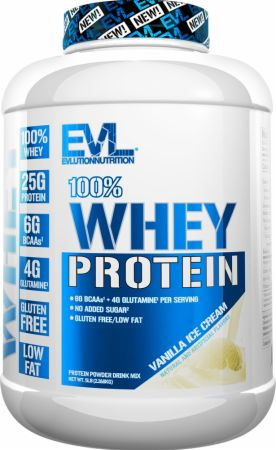 Image of 100% Whey Protein Vanilla Ice Cream 5 Lbs. - Protein Powder EVLUTION NUTRITION