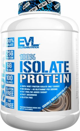 Image of 100% Whey Protein Isolate Double Rich Chocolate 5 Lbs. - Protein Powder EVLUTION NUTRITION