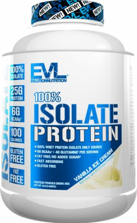Image of 100% Whey Protein Isolate Vanilla Ice Cream 5 Lbs. - Protein Powder EVLUTION NUTRITION