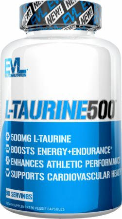 Image of L-Taurine 500 90 Veggie Capsules - Energy & Endurance EVLUTION NUTRITION