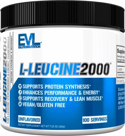 Image of L-Leucine 2000 Unflavored 100 Servings - Amino Acids & BCAAs EVLUTION NUTRITION